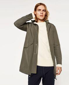Bild 1 von LEICHTER PARKA von Zara Zara, Raincoat, Street Style, Style Inspiration, Jackets, Image, Online Clothes, Fashion Trends, Men