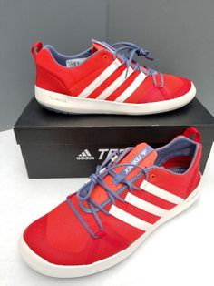 4ca7911423d4 NEW Adidas Climacool Terrex BOAT Lace CQ1725 Water Shoes Red Orange White  SZ 14  adidas