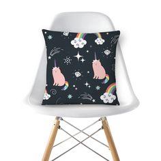 Digital printing on pillows #unicorn #cat #unicat #cute #rainbow
