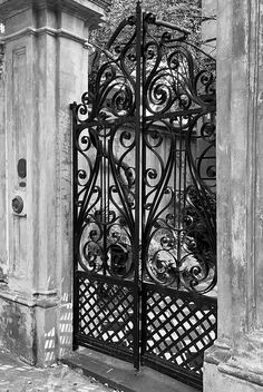 8 Legare Street, Charleston, South Carolina, c. 1857: iron gate at entry by Christopher Werner