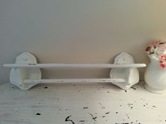 Shabby Chic Vintage Shelf In Pear Green Etsy Pinterest Shelves And