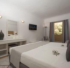 Mountain Or Pool View - Samaina Inn Hotel Samos, Seaside, Hotels, Mountain, Room, Furniture, Home Decor, Bedroom, Decoration Home