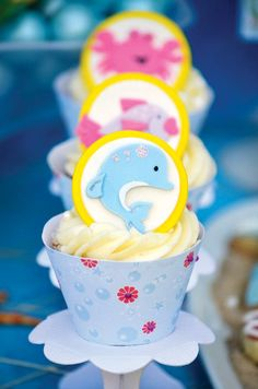 Girly & Cute Under the Sea Cupcakes