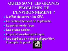 "Environmental awareness ""en français""..."