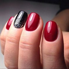 Nail Art For Short Nails Red Black