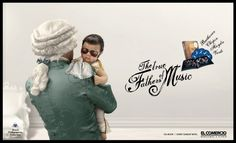 The real fathers of the music – Clever ads for compilations of classical music