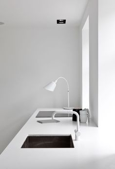 Andtradition BELLEVUE Lamp featured in A Black & White Townhouse by Norm Architects In Copenhagen, Denmark | Yatzer