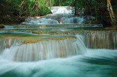 Cascade - Huai Mae Kamin waterfall  Kanchanaburi province; Thailand