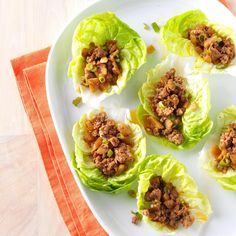 Ginger Pork Lettuce Wraps Recipe -When I make Asian-spiced lettuce wraps with lean ground pork, I remind my family they're meant to be an appetizer – but maybe I should just call it supper. —Mary Kisinger, Medicine Hat, AB