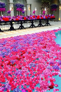 Pool Decor Ideas For Your Backyard Wedding ★ wedding pool party decoration ideas flower in water jeffleatham