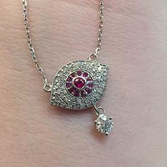 Forevermark Evil Eye Pendant  $1,080  Instagram: casalejewelers Facebook: Casale Jewelers Casalejewelers.net