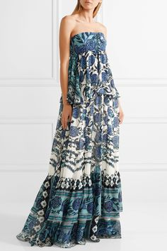 Layered floral-print silk-chiffon gown   ROBERTO CAVALLI   Sale up to 70% off   THE OUTNET