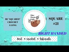 """BE """"SQUARED"""" CAL   SQUARE 21   RIGHT HANDED   FLOWER SQUARE   TUTORIAL - YouTube Hand Flowers, Easy Crochet, Fiber, Writing, Youtube, Crafts, App, Squares, Manualidades"""