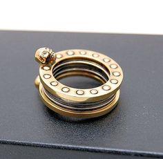 Alexander McQueen Gold Save McQueen Ring, UK O.5, EU 55, USA 7.5