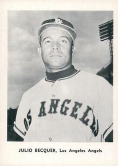 1961 Jay Publishing Los Angeles Angels #NNO Julio Becquer Front