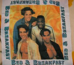 Vintage scarf Bed & Breakfast band от MyLovelyEarrings на Etsy