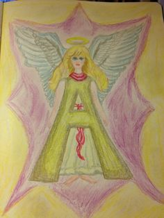 """Waldorf Letter """"A"""" for Angel .... ACS"""