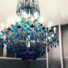 peacock chandelier by Whoopi