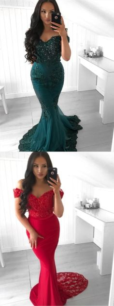Prom Dress Princess, Mermaid Off-the-Shoulder Sweep Train Dark Green Prom Dress with Appliques Beading Shop ball gown prom dresses and gowns and become a princess on prom night. prom ball gowns in every size, from juniors to plus size. Pageant Dresses For Teens, 2 Piece Homecoming Dresses, Elegant Bridesmaid Dresses, Straps Prom Dresses, Best Prom Dresses, Prom Dress Stores, Tulle Prom Dress, Dresses Uk, Evening Dresses