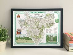 Greenwich Borough illustrated map giclee print by thisismikehall