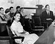 Errol Flynn and Lili Damita in divorce court