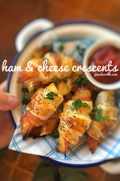 Ham and Cheese Crescents Appetizers