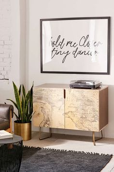 Slide View: 1: Holli Zollinger For Deny French Linen Marble Credenza