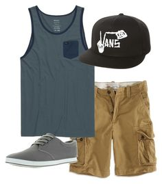 """atory"" by anoai on Polyvore featuring American Eagle Outfitters, RVCA, Arider, Vans, men's fashion and menswear"