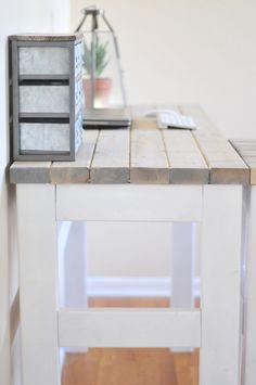 DIY Counter Height Desk #diy #furniture #tutorial #wood #planked #farmhouse…