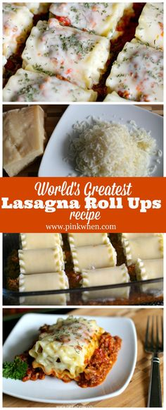 World's Greatest Lasagna Roll Ups Recipe @pinkwhen