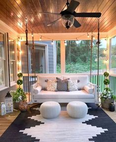 30 Gorgeous And Inviting Farmhouse Style Porch Decorating Ideas - - Tis the season of summer days and outdoor spaces to enjoy them, so check out our fab collection of farmhouse style ideas for your porch. Friday Night Lights, House With Porch, Houses With Front Porches, Decks And Porches, My New Room, Home Interior, Interior Designing, Interior Ideas, Studio Interior