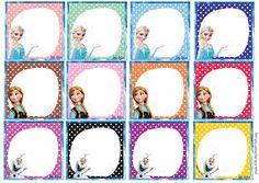 Resultado de imagen para etiquetas escolares gratis frozen