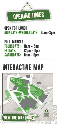 Borough Market opening times and Market map.