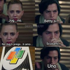 Bughead Riverdale, Riverdale Funny, Riverdale Memes, Stupid Funny Memes, Funny Relatable Memes, Italian Memes, Riverdale Cole Sprouse, Betty And Jughead, Funny Scenes