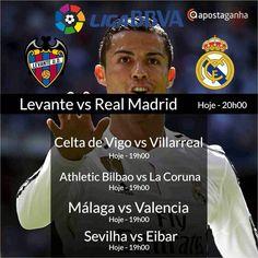 Temos Prognósticos para todos os jogos de hoje para a Liga BBVA... Confere....  http://www.apostaganha.com/2016/03/02/prognostico-apostas-levante-vs-real-madrid-liga-bbva-2-234/  http://www.apostaganha.com/2016/03/02/prognostico-apostas-levante-vs-real-madrid-liga-bbva-2-982/  http://www.apostaganha.com/2016/03/02/prognostico-apostas-celta-de-vigo-vs-villarreal-liga-bbva-231/  http://www.apostaganha.com/2016/03/02/prognostico-apostas-sevilha-vs-eibar-liga-bbva-324…