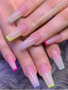40 Gorgeous Summer Coffin Acrylic Nails Ideas That Will Inspire You Acrylic Nails Coffin Short, Simple Acrylic Nails, Square Acrylic Nails, Summer Acrylic Nails, Best Acrylic Nails, Nail Summer, Light Pink Acrylic Nails, Coffin Acrylics, French Acrylic Nails