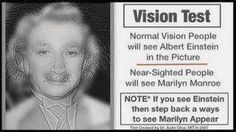 The Vision Test. What (Who) do you see?