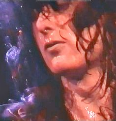 Jimmy Page sweating it out on stage.