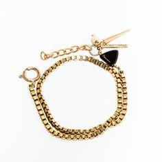 Geo Wrap Bracelet- Black