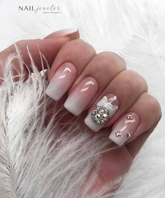 80 Beautiful Christmas Nail Design Ideas For New Year - Page 70 of 80 - Soflyme - Nail Art New Year's Nails, Xmas Nails, Holiday Nails, Pink Nails, Disney Christmas Nails, Christmas 2019, Square Acrylic Nails, Acrylic Nail Designs, Cute Nail Designs
