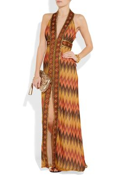 Haute Hippie Embellished silk-crepe maxi dress - 68% Off Now at THE OUTNET