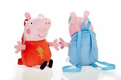 d247d81a313e NEW Peppa Pig Family Peppa Pig George Pig Plush Backpack Original Brand  Plush Toys Free shipping