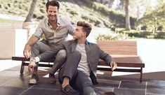 The ads show Berkus and Brent hanging out, canoodling and spending quality time together, adorably. | Nate Berkus And Boyfriend Star In Banana Republic's First Same-Sex Ads