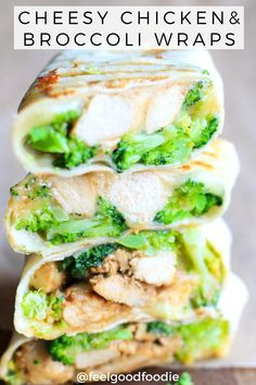 Cheesy Chicken and Broccoli Wraps: These. Cheesy Chicken and Broccoli Wraps: These Cheesy Chicken and Broccoli Wraps are da bomb! Theyre super easy to prepare only need a few ingredients and are certainly a family favorite! Lunch Recipes, Beef Recipes, Chicken Recipes, Cooking Recipes, Wrap Recipes, Dinner Recipes, Burger Recipes, Rice Recipes, Casserole Recipes