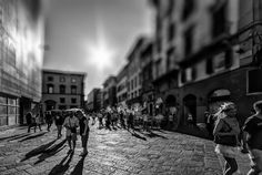 Freeze frame Florence Italy.