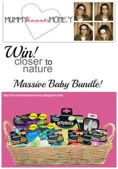 WIN! with Closer to Nature Explora range and Mummy Hearts Money. A fabulous baby bundle valued at $100 up for grabs