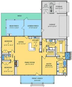 2265 sq ft Plan 83876JW: Acadian House Plan with Safe Room