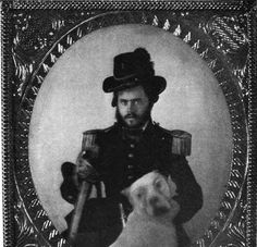 Fitzhugh Lee (1835-1905); Maj. Gen. CSA & Maj. Gen. USA. Here as Lieutenant in the U.S: Army between 1856 and 1861.