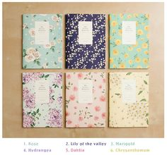 Ruled Notebook floral pattern / Flower Ruled Notebook di DubuDumo
