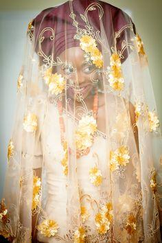 African bride - engagement gele + veil | #jidealakijaphotography